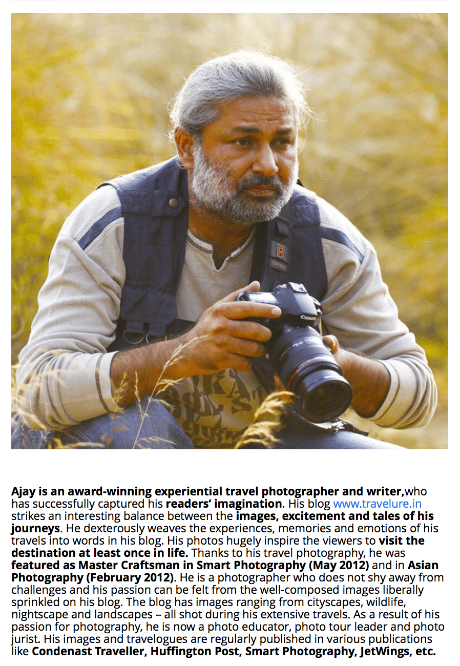 Ajay Sood Travelure - Pro Travel Photographer